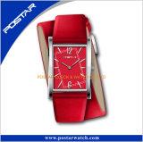 Relógio de forma unisex do relógio de Virtecal com a cinta de couro envolvida dobro
