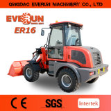 Electric Joystick/Luxury Cabin를 가진 Qingdao Everun Er16 Moving Type Small Front End Loader