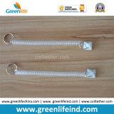 Sostenedor adhesivo redondo claro delgado largo elástico de la correa W/Split Ring&Plastic del muelle en espiral