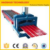 Roulis de tuile de toit en métal formant la machine, chaîne de production