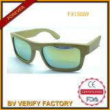 2015 Bamboo Sunglasses with Mirrored Lens Fashion Style (FX15059)