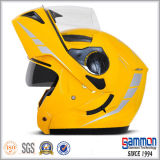درّاجة ناريّة جميل أصفر خوذة تضمينيّة ([لب504])