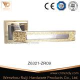 Сверхмощная европейская ручка двери сплава цинка типа на радиусе Rose