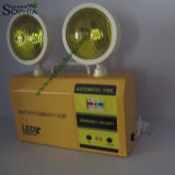 Sophia recargable 5W Twin Heads LED de luz de emergencia