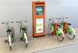 De openbare fiets-Trillende Oranje Enige Kast van de Pijp van het Gewone Staal Vierkante