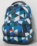 中間の高等学校学生のブックバッグのラップトップの袖のバックパック