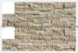 Mattonelle di marmo gialle della natura, dorate, beige di pietra per la parete