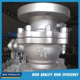 Gaz industriel Flanged Stainless Steel Ball Valve flottante