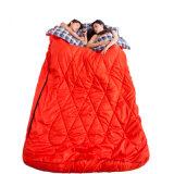 Venta al por mayor acampar de 2 personas saco de dormir de la franela forrado Saco de dormir