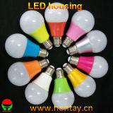 A60 9 cubierta plástica del bulbo del vatio LED con el disipador de calor