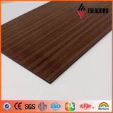 熱い販売の工場価格の切れていないコアPEによって塗られる木製の終わりのアルミニウム合成のパネル Ae308