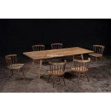(SL-8303)ホテルのレストランのホーム食事の家具の純木のダイニングテーブル