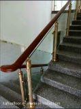 Aluminium moderne de mode de DM KH et balustrade en bois en verre d'escalier
