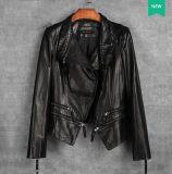 Короткая неподдельная кожаный куртка для женщин