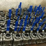 шариковый клапан сварное соединение встык нержавеющей стали 3PC (Q61F)