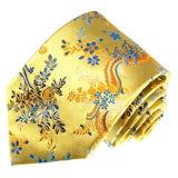 新しい方法赤いローズの花デザイン人の編まれた絹のネクタイ