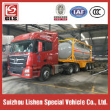 2 Radachsen Semi Trailer mit Container Chemical Tanker Truck Trailer