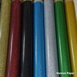 きらめきの熱伝達のビニール/PU /PVCはTシャツ及び他のファブリックのためのビニールを基づかせていた
