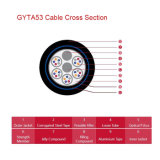 二重Layer Armoured 2PE Sheath Fiber Optic Cable GYTA53