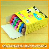 Rectángulo de empaquetado de la tiza de papel del color