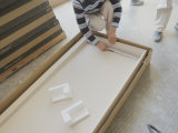 Reines weißes festes Oberflächenacryldusche-Tellersegment