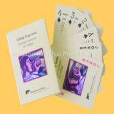 Cartões educacionais impressos chineses do cartão de jogo da cor cheia