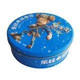 Commercio all'ingrosso di goffratura del contenitore di biscotto del biscotto del metallo di figura rotonda