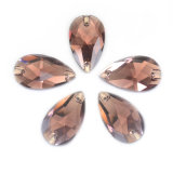 Flat Back Teardrop Sew-on Crystal Pear Shape Sew on Glass Stone for Bridal Dress