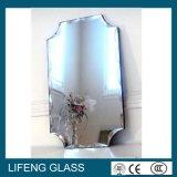 Glace traitée de miroir de bord conique pour le miroir de salle de bains
