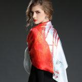 Напечатанный шарф 100 * 100 Cm Silk лошади сатинировки большой квадратный
