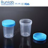 FDA Registrated 120ml Wide Mouth Urine Containers mit Screw Cap und Identifikation Label