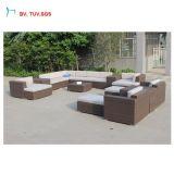 Sofá moderno luxuoso da combinação do Rattan do PE da mobília do jardim C-2016 ao ar livre