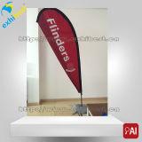 Hotsale Ereignisteardrop-Druck-Fiberglas-Metallstandplatz-Fahne