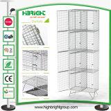 Singolo armadio della rete metallica del nido per spogliatoio