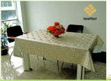 Nappe gravée en relief métallique des graines de PVC avec le support de tissu (TJD002)