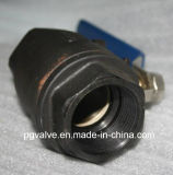 Шариковый клапан низкого давления Pn16 Wcb 2PC резьбы BSPT с Ce и ISO9001