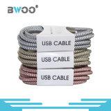 Cavo di dati Braided variopinto della fibra per il telefono astuto