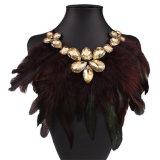 過大視される多色刷りの方法羽のダイヤモンドカラーネックレスの宝石類