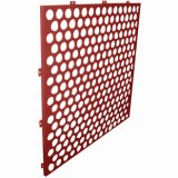 Staggered Round Perforations를 가진 빈 Perforated Aluminum Panels