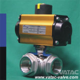 Getto Stainless Steel Multi-Port o 3/Three Way Ball Valve con la L o T Port