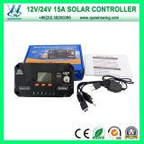 12V/24V 15A PWM elegante del regulador solar de la carga de la rejilla (QWP-VS1524U)