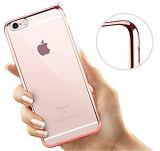 Coperture sottili del coperchio molle di misura di caso Bumper di TPU per il iPhone