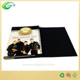 L'impression polychrome de papier à haute brillance de livre de grippement de bobine avec UV gravent en relief (CKT-NB-416)