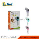 Termômetro infravermelho Non-Contact do bebê médico da forma do injetor do LCD