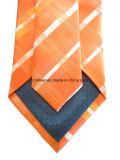 Orange Check Silk Necktie für Business Man