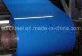 Bobine en acier galvanisée enduite d'une première couche de peinture, décorant le matériau