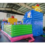 Kind-Karikatur aufblasbares springendes Bed/0.55mm PVC-aufblasbares Prahler-Schloss
