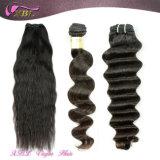 Extensão ondulada crua natural do cabelo do Virgin dos Peruvian do cabelo humano 100%
