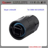 Ethernet Connector/8 Palo Dual RJ45 Connector con l'UL, Ce, RoHS, iso Approved
