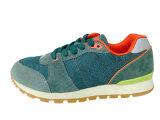高いQuaility牛スエードおよび網が付いている偶然の運動靴